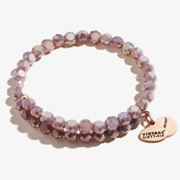 Glam Wrap Bracelet, Mauve