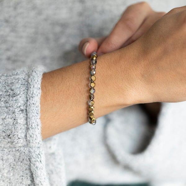 Glam Wrap Bracelet, Bronze