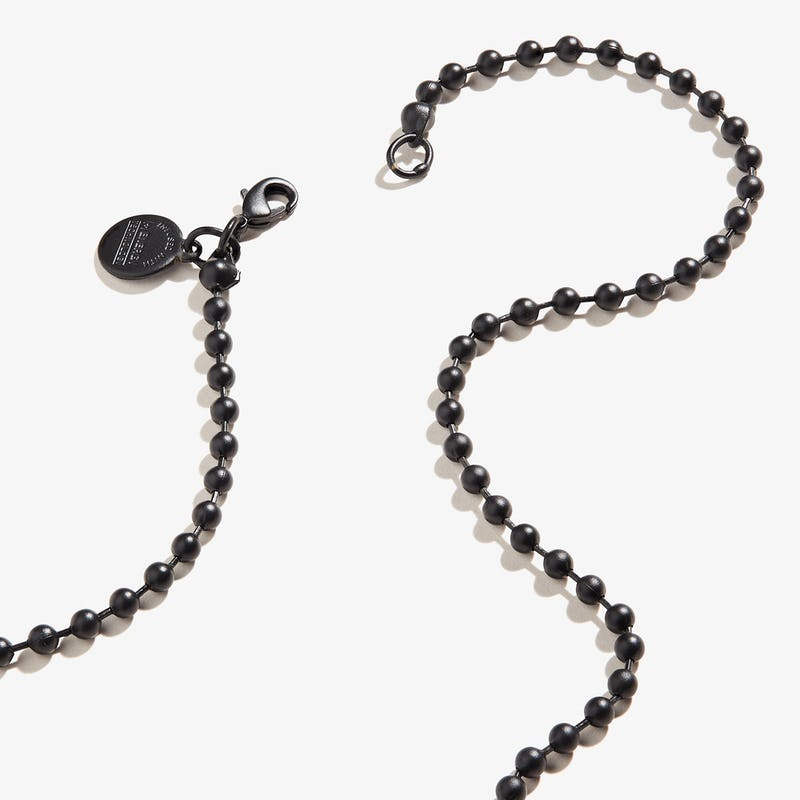 Ball Chain Necklace, Black
