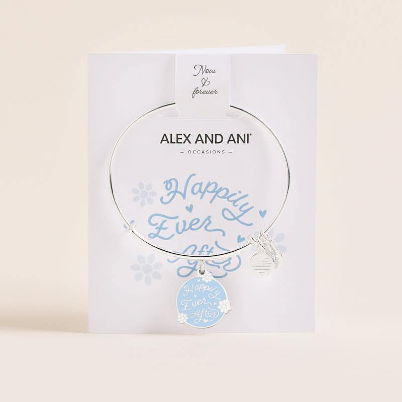 'Happily Ever After' Charm Bangle, Shiny Silver, Alex and Ani