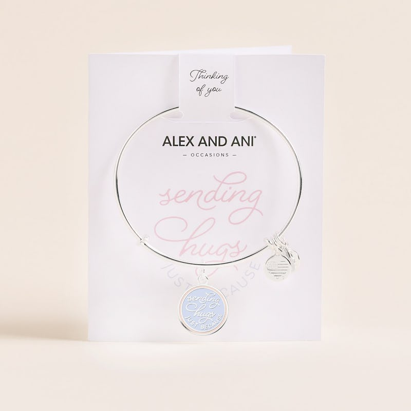 'Sending Hugs Just Because' Charm Bangle, Shiny Silver, Alex and Ani