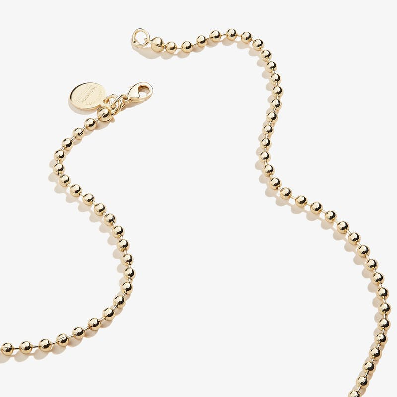 Ball Chain Necklace, Gold