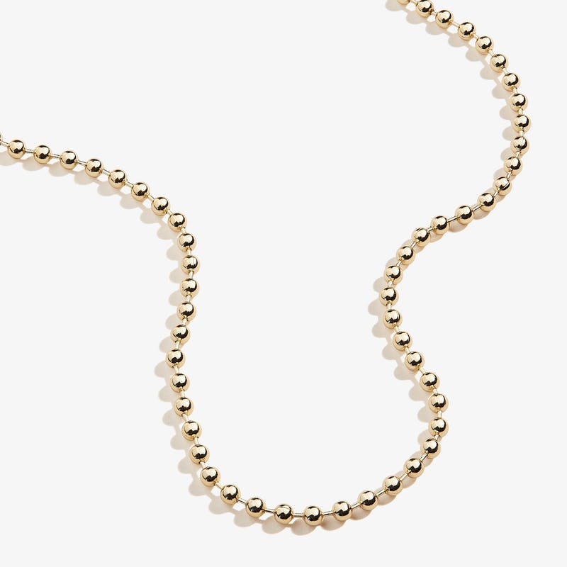Ball Chain Necklace, Shiny Gold, Alex and Ani