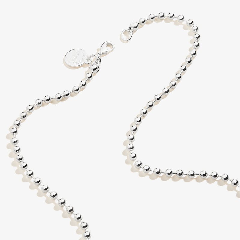 Ball Chain Necklace, Silver