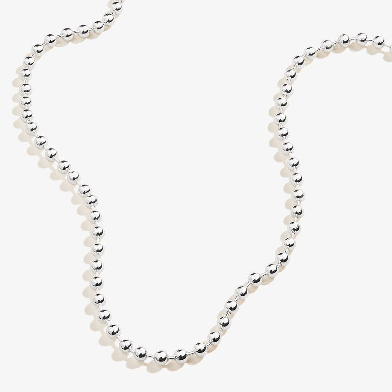 Ball Chain Necklace, Shiny Silver, Alex and Ani