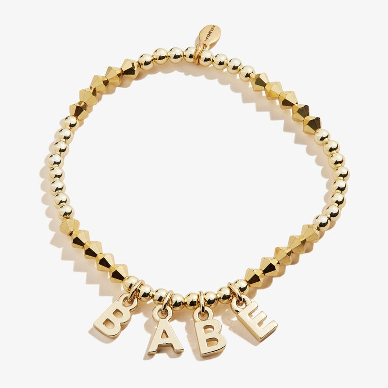 'Babe' Beaded Stretch Bracelet, Shiny Gold, Alex and Ani