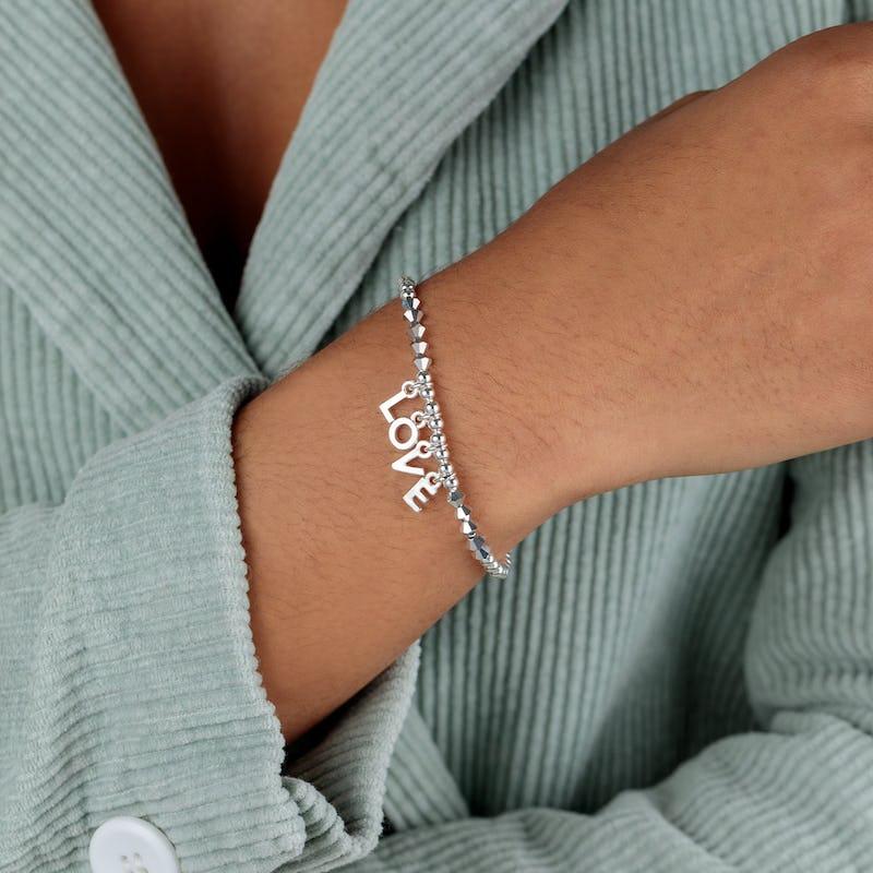 'Love' Beaded Stretch Bracelet