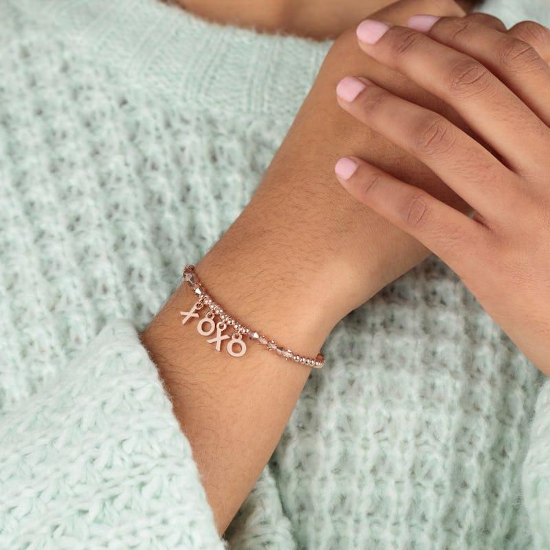 'XOXO' Beaded Stretch Bracelet