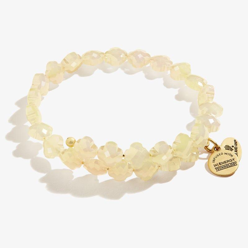 Soft Yellow Harmony Wrap Bracelet, Shiny Gold, Alex and Ani