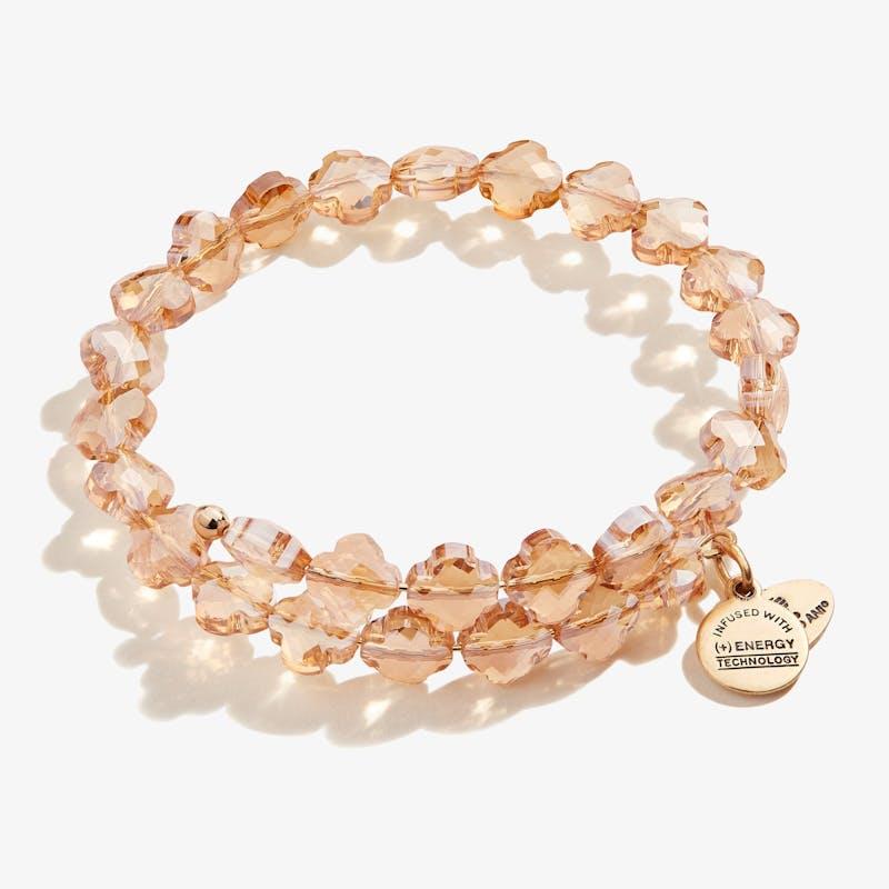 Sandstone Harmony Wrap Bracelet, Shiny Gold, Alex and Ani