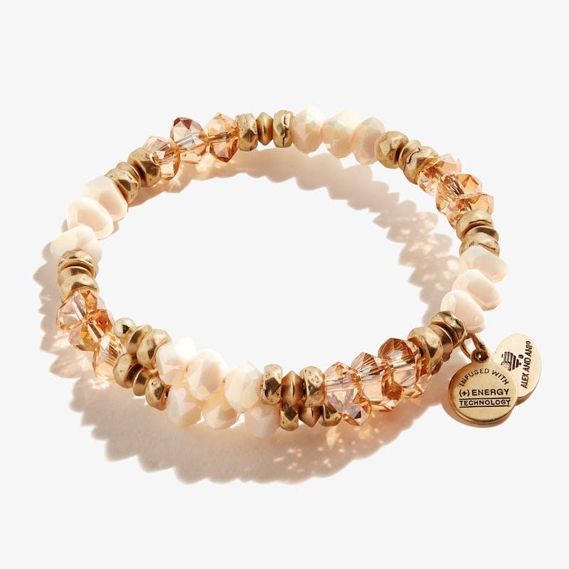 Blessing Wrap Bracelet, Sandstone, Rafaelian Gold, Alex and Ani
