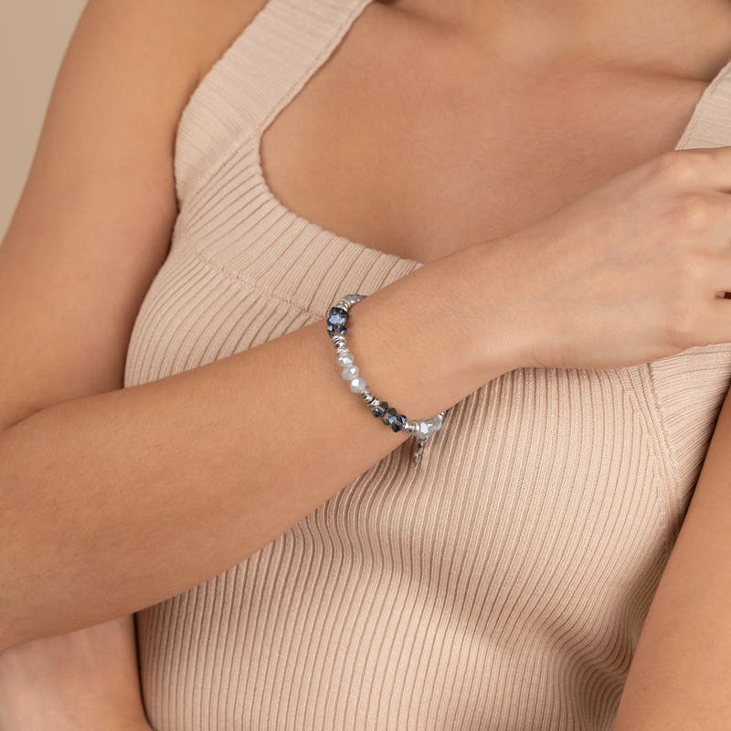 Blessing Wrap Bracelet, Blue