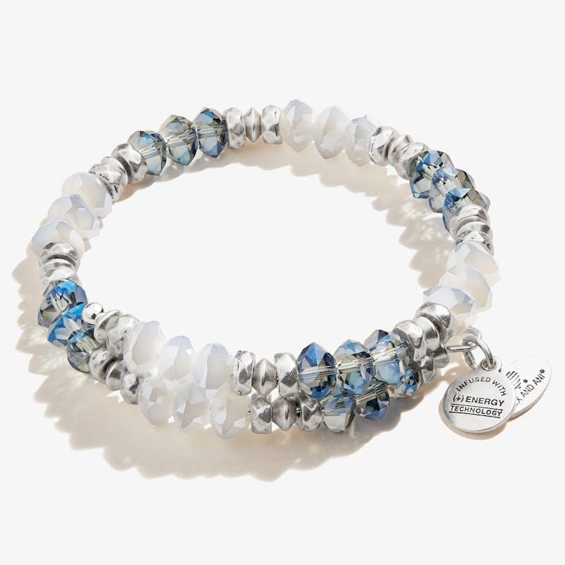 Blessing Wrap Bracelet, Blue, Rafaelian Silver, Alex and Ani