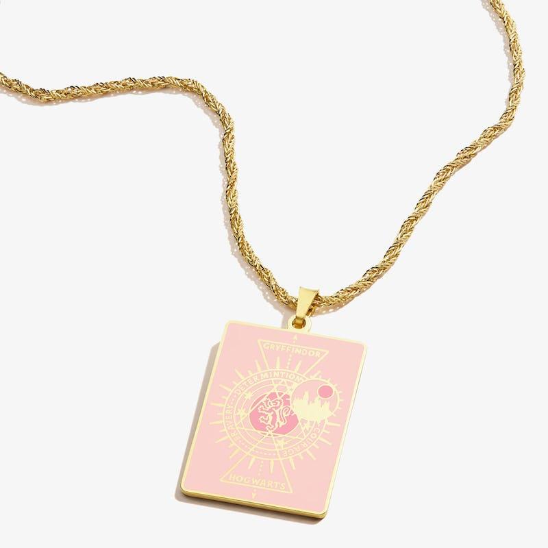 Harry Potter Hogwarts + Gryffindor Charm Necklace, Shiny Gold, Alex and Ani