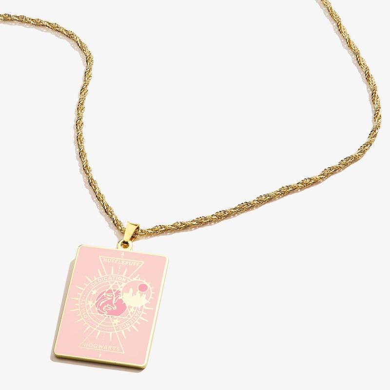Harry Potter Hogwarts + Hufflepuff Charm Necklace, Shiny Gold, Alex and Ani