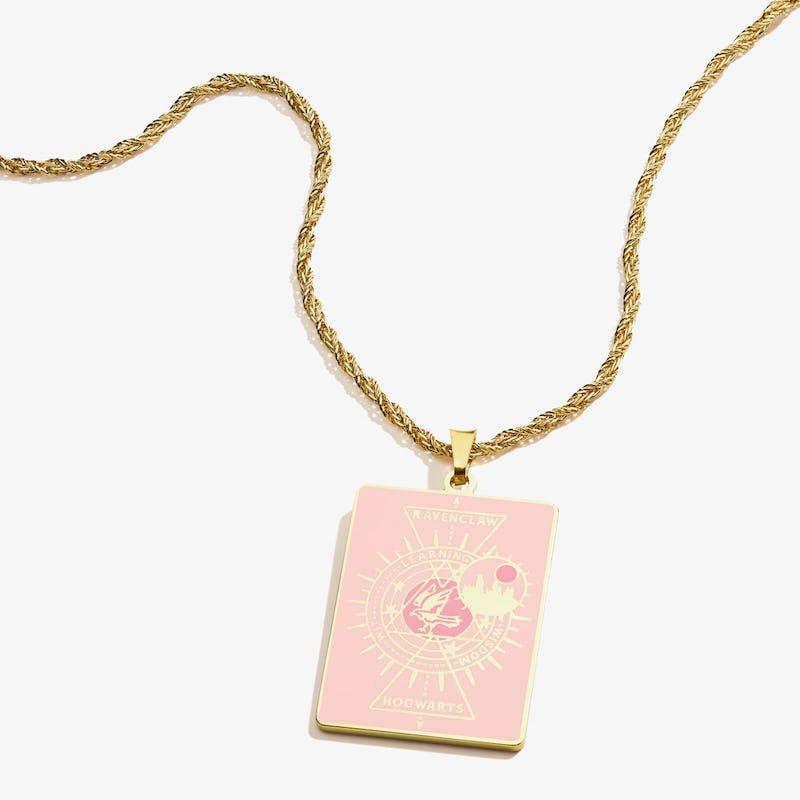 Harry Potter Hogwarts + Ravenclaw Charm Necklace, Shiny Gold, Alex and Ani