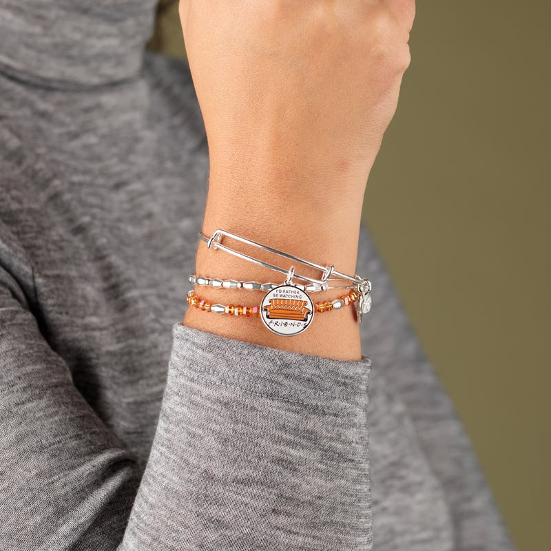 'I'd Rather Be Watching Friends' Couch Charm Bangle, Set of 3
