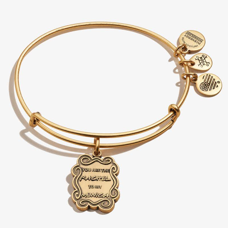 Friends, 'The Rachel To My Monica' Charm Bangle, Rafaelian Gold, Alex and Ani