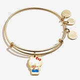 Hello Kitty Roses Charm Bangle, Shiny Gold, Alex and Ani