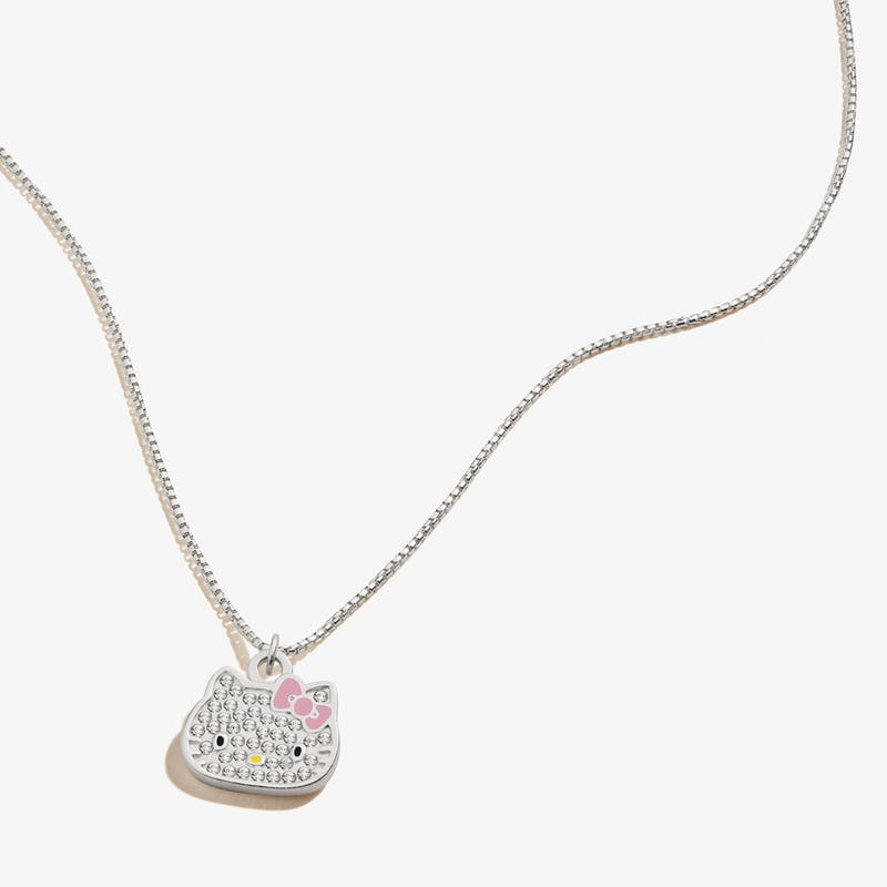 Hello Kitty Pavé Charm Necklace, .925 Sterling Silver, Alex and Ani