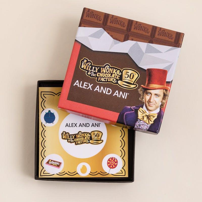 Willy Wonka Golden Ticket Charm Bangle