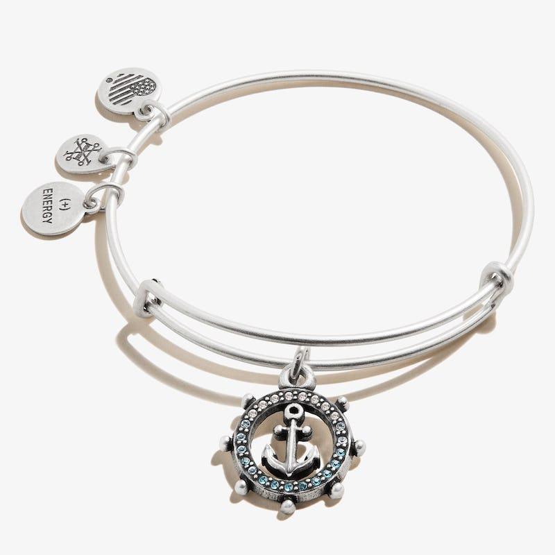 Anchor Charm Bangle, Crystal Infusion