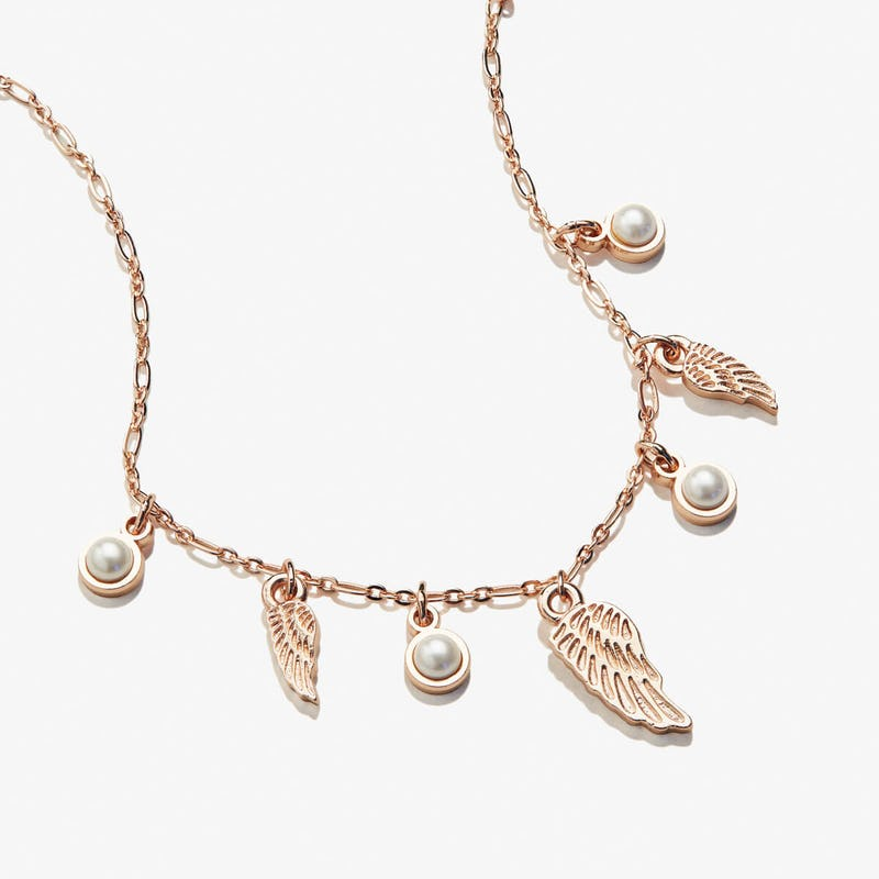 Angel Wing + Pearl Delicate Necklace