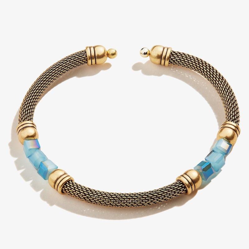 Antique Americana Mesh Cuff Bracelet, Blue