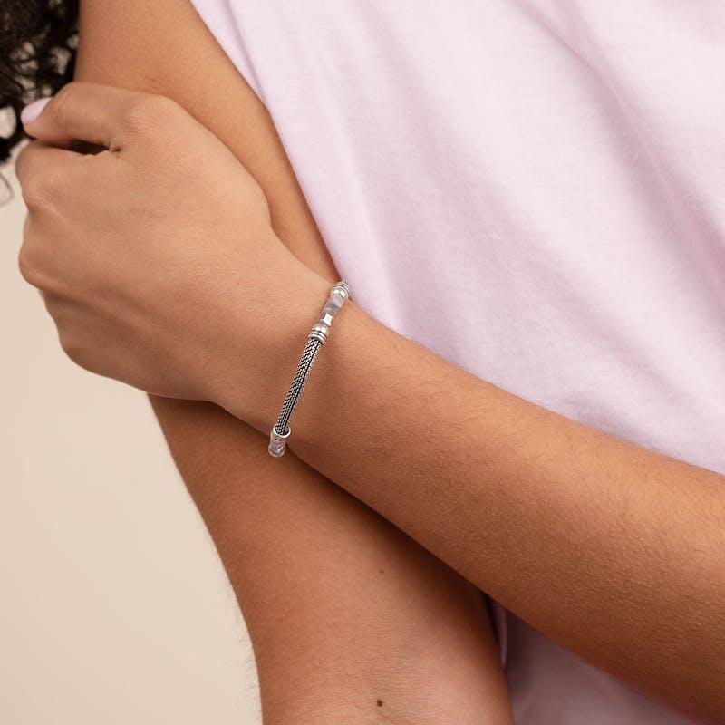 Antique Americana Mesh Cuff Bracelet, Purple