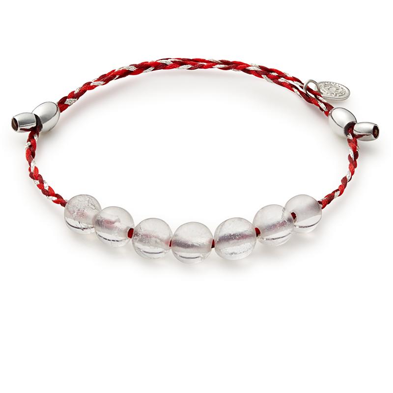 Crystal Quartz Precious Threads Bracelet