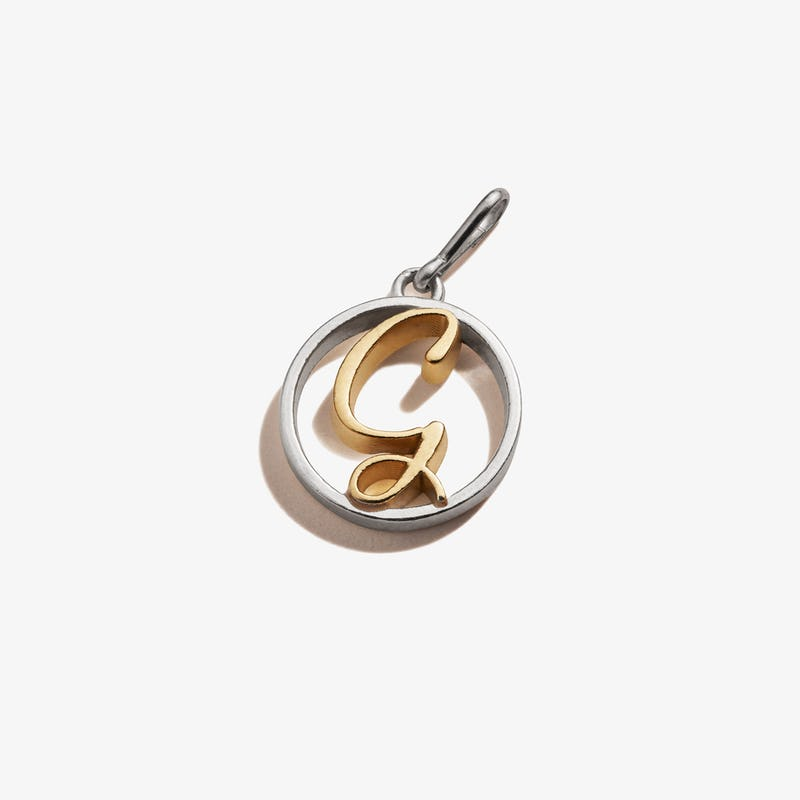 Initial G Charm, Two-Tone