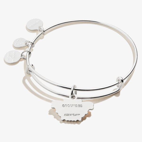 Comma Butterfly Charm Bangle