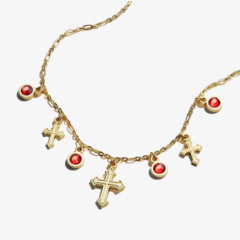 Cross + Crystal Delicate Necklace