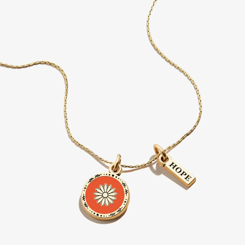 Daisy + Hope Mantra Duo Charm Necklace