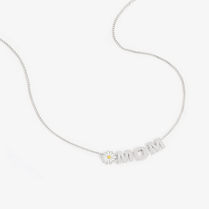 Daisy + 'Mom' Necklace