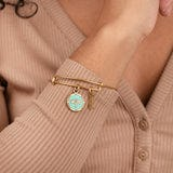 Dragonfly + Wisdom Mantra Duo Charm Bangle