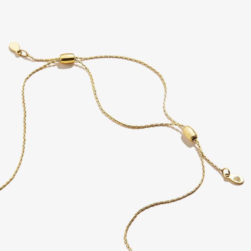 Dragonfly + Wisdom Mantra Duo Charm Necklace