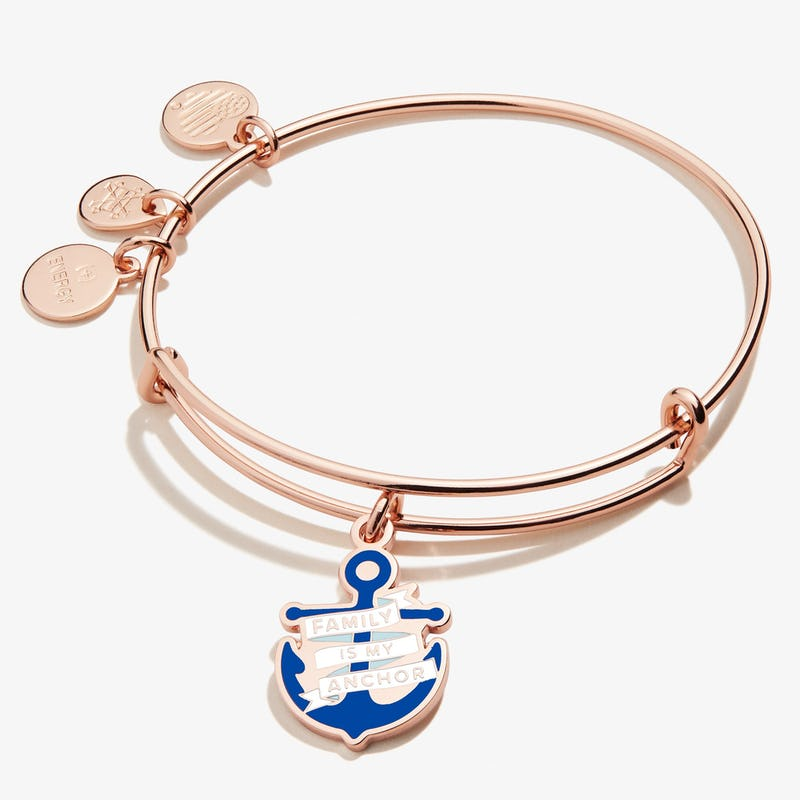 'Family is My Anchor' Charm Bangle