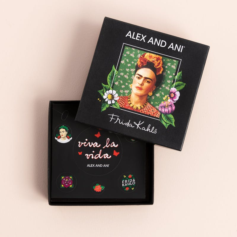 Frida Kahlo I Paint Flowers Trio Charm Bangle
