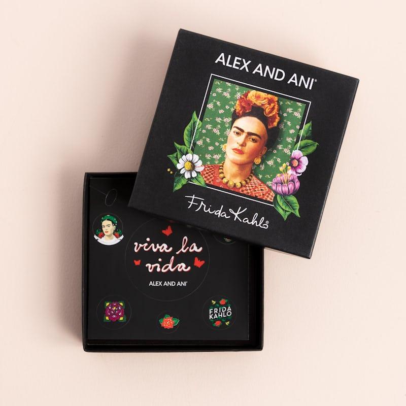 Frida Kahlo Portrait Charm Bangle