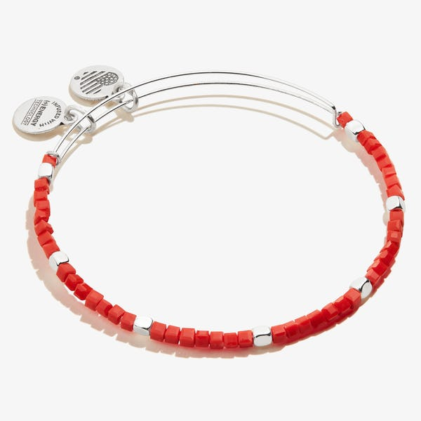 Gaiety Beaded Bangle, Berry Red