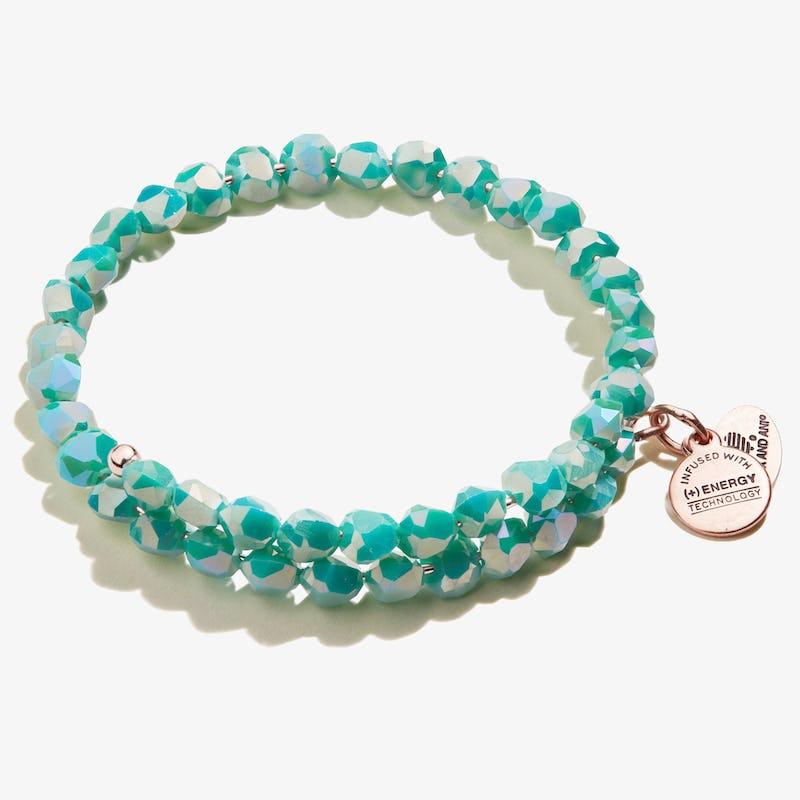 Happiness Beaded Wrap Bracelet, Turquoise