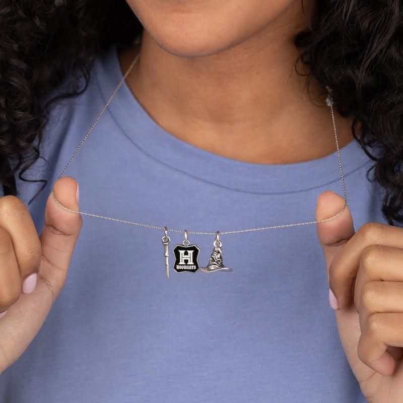 Harry Potter™ 'Hogwarts' Trio Charm Necklace