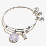Heart + Gratitude Mantra Duo Charm Bangle