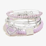 'Home is Where Mom is' Charm Bangle, Set of 5