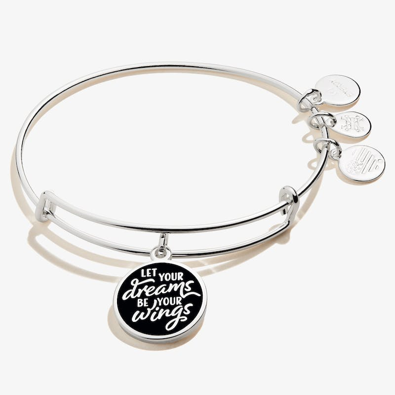 'Let Your Dreams Be Your Wings' Charm Bangle