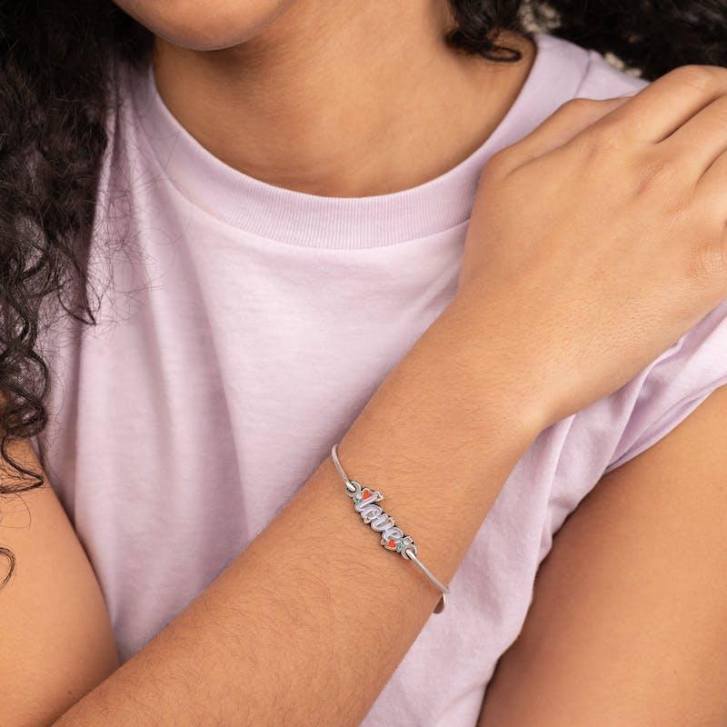 'Love' Inline Charm Bangle