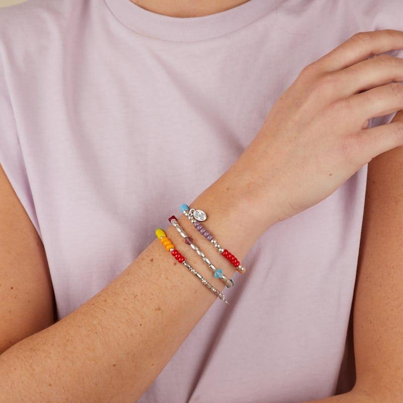 'Love is Love' Stretch Bracelet, Set of 3