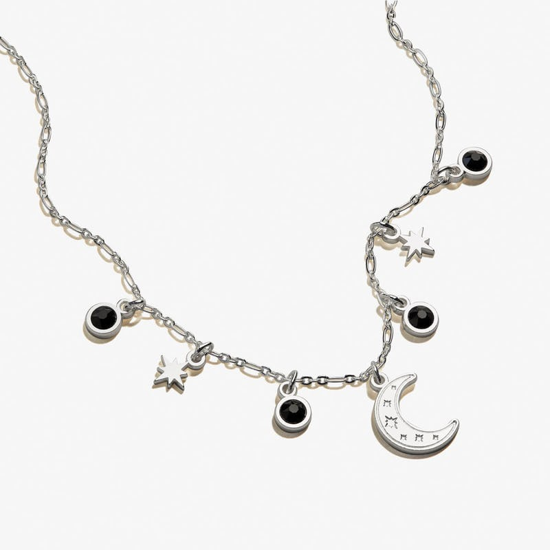 Moon + Crystal Delicate Necklace