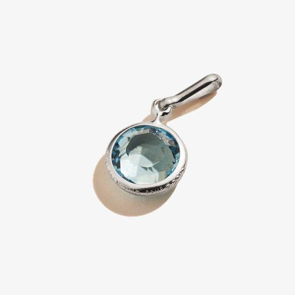 March Aquamarine Birthstone Charm, .925 Sterling Silver, Alex and Ani